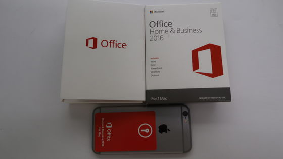 Porcellana Microsoft Office originale 2016 domestico ed affare per l'IOS del mackintosh senza DVD dentro fornitore